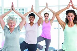 senior women yoga